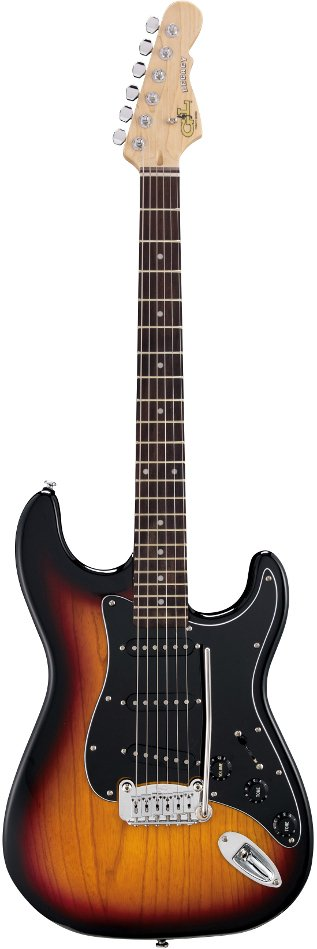 3-Tone Sunburst Tribute Series Electric Guitar with Swamp Ash Body and Rosewood Fingerboard