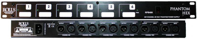 Phantom Hex 6-Channel 48V Phantom Power Supply