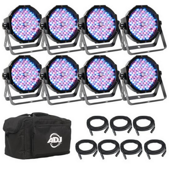 8x Mega Par Profile Plus LED Package