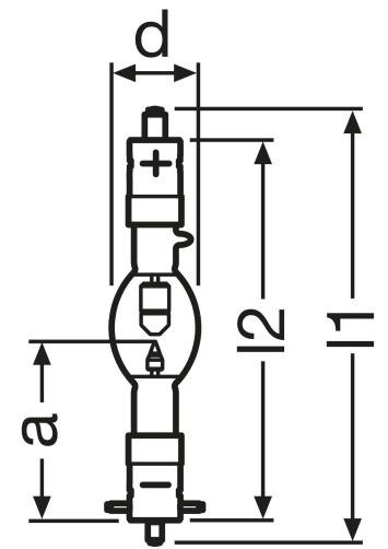 Osram Sylvania XBO1000 W/HS OFR 1000W Xenon Short-Arc Lamp XBO1000WHS/OFR