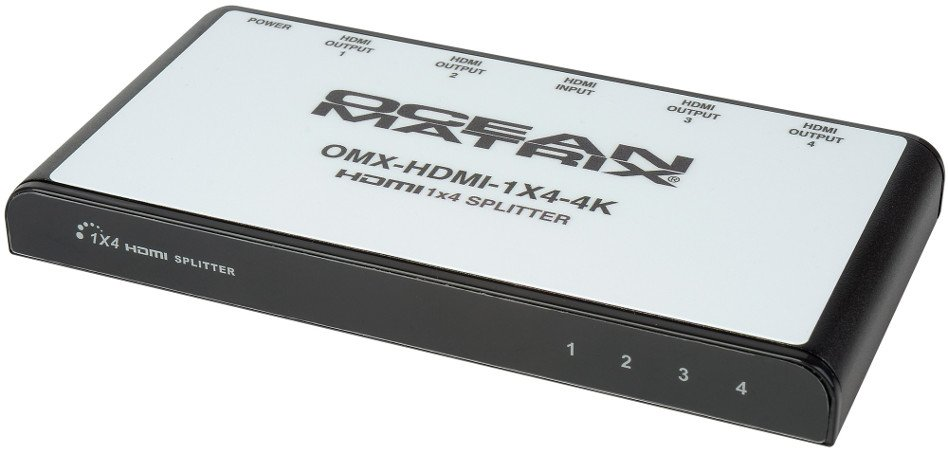 OCEAN MATRIX OMX-HDMI-1X4-4K 1x4 Splitter, 4K HDMI Distribution Amp OMX-HDMI-1X4-4K