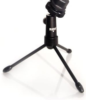 "Collapsible Mini Tripod Microphone Stand with 1/4""Thread Mounting"