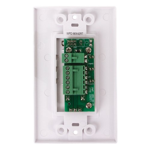 Wall Plate Input Selector with Volume Adjustment for TSD-MIX42RT Mixer