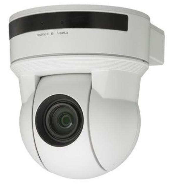 SD Pan-Tilt Zoom Color Video Camera in White