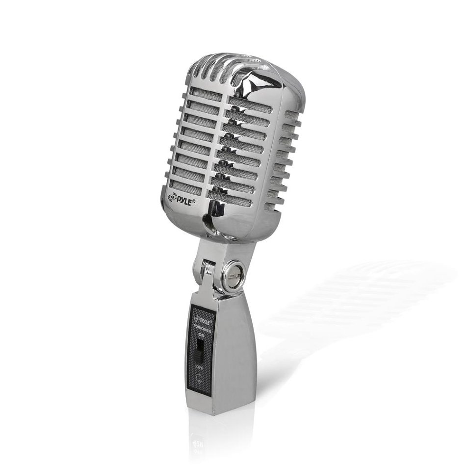 Pyle Pro PDMICR42SL  Vintage-Styled Cardioid Dynamic Microphone with On/Off Switch PDMICR42SL
