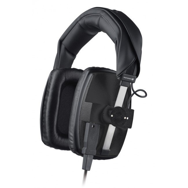 400 Ohm Over-Ear Closed-Back Dynamic Headphones in Black