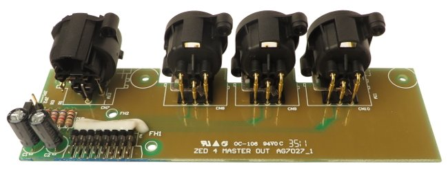 Master XLR Output PCB for ZED 4 Series