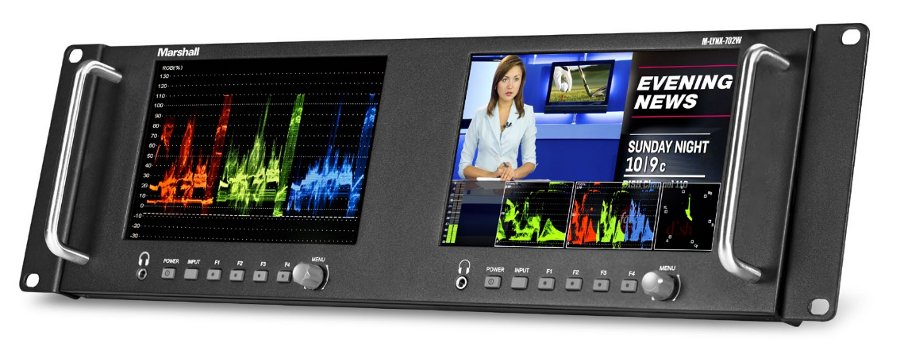 "Dual 7"" High Resolution Rack Mount Display with Waveform"