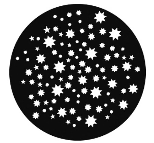 Steel Gobo Stars on Stars