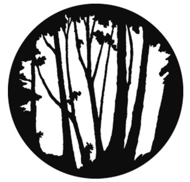 Steel Gobo - Mixed Trees