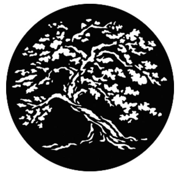 Steel Gobo - Twisted Tree