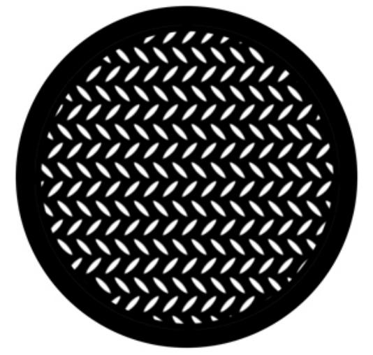 Steel Gobo - Diamond Grid