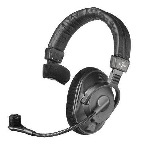 250 Ohm Single-Ear Phantom Powered Broadcast Headset with Condenser Microphone