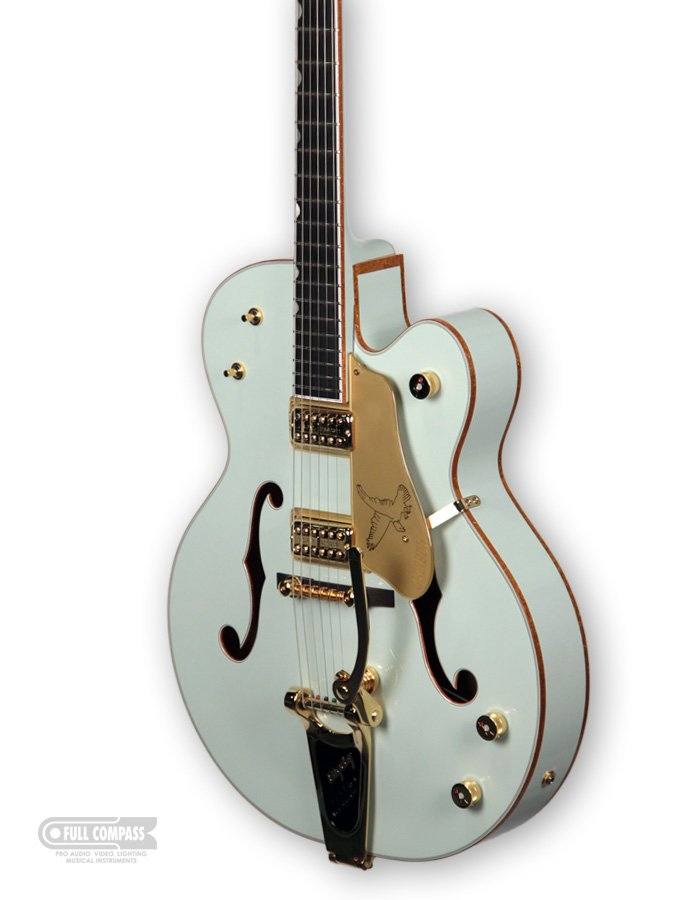 Limited Edition Creme De Marine White Falcon Hollowbody Electric Guitar with Hardshell Case