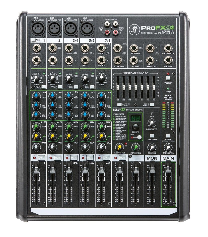 8-Channel Mixer with Onboard Effects Engine and USB I/O