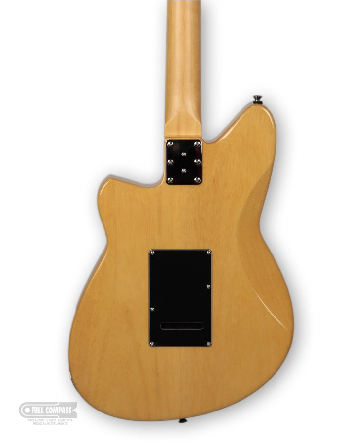 Electric Guitar with Humbucker and P-90 Pickups in Vintage Clear Flame Maple Finish