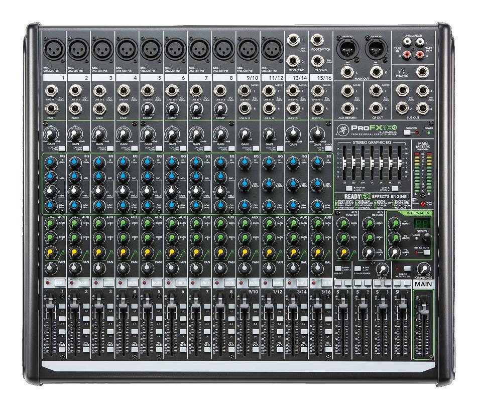 16-Channel Mixer with Onboard Effects Engine and USB I/O