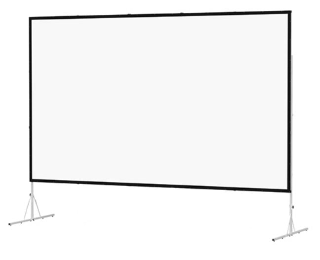 "120"" x 120"" Fast-Fold Deluxe Screen System with Dual Vision Surface"