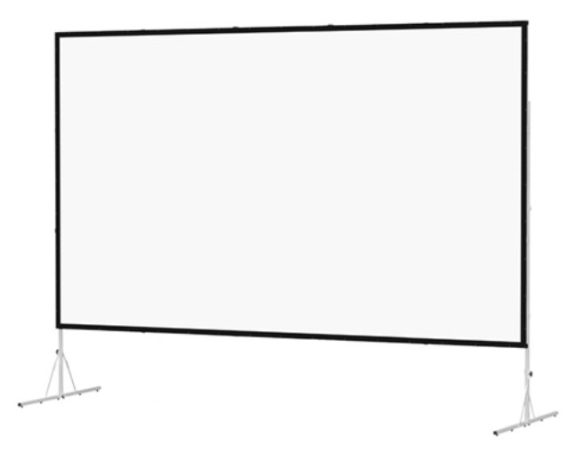 "120"" 4:3 Fast-Fold Deluxe Screen System with Heavy-Duty Leg Option"