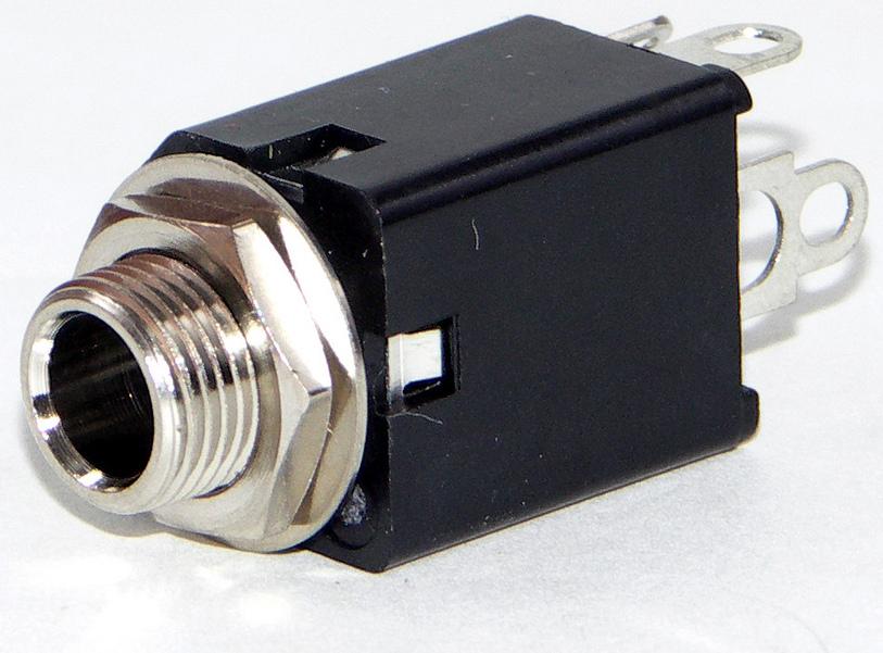 """Hi-D Jax 1/4"""" Enclosed Telephone MIL Jack Connector"""