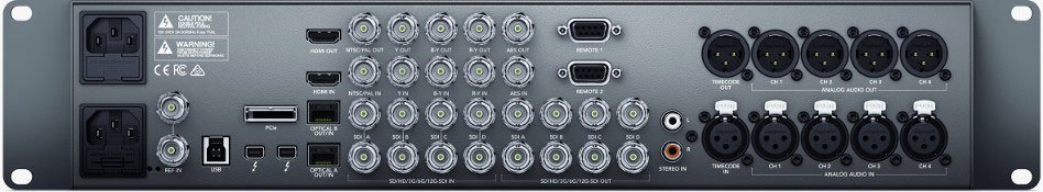 12G Thunderbolt and PCIe Capture and Playback Solution