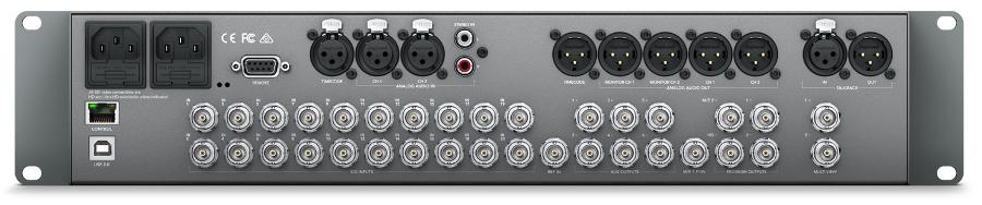Blackmagic Design ATEM 2 M/E Broadcast Studio 4K 2RU 20 x 12G-SDI Ultra HD Live Production Switcher SWATEMRRW2ME4K