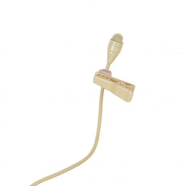 Omnidirectional Lavalier Microphone in Tan for TG 1000 Bodypack Transmitters