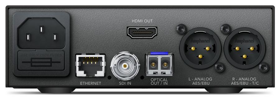Blackmagic Design Teranex Mini - Optical to HDMI 12G 12G Optical and 12G-SDI to HDMI Mini Converter CONVNTRM/MA/OPTH