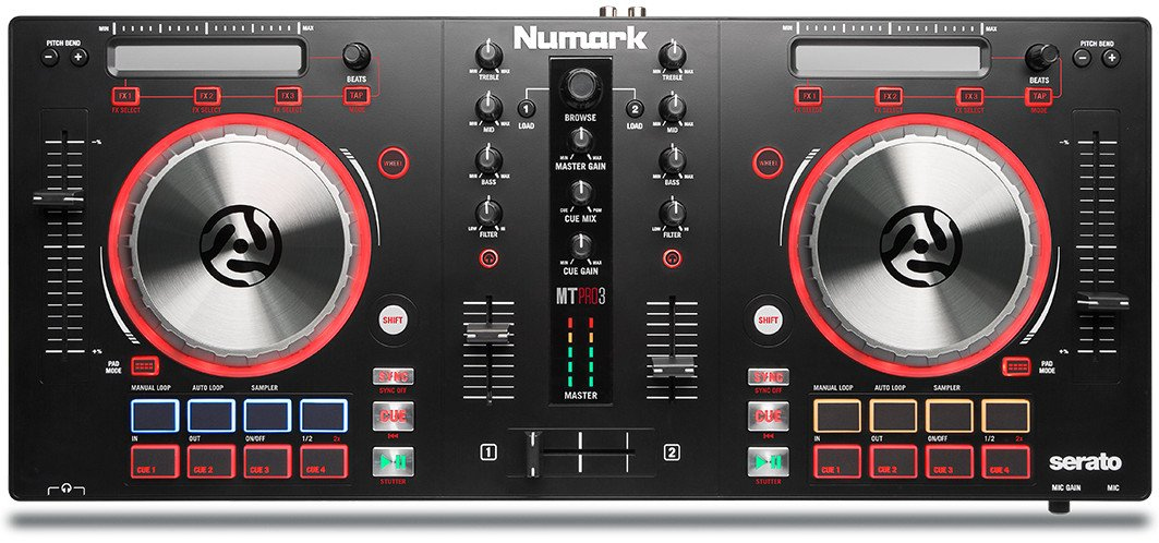 Numark Mixtrack Pro 3 2 Channel DJ Controller with Audio I/O MIXTRACK-PRO-3