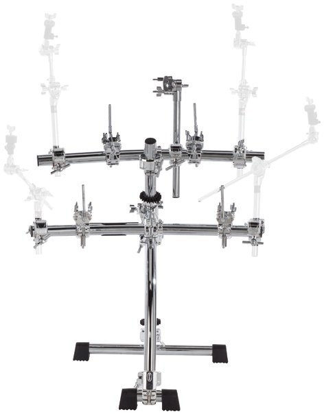 Electronic Drum Rack with Pad and Module Clamps