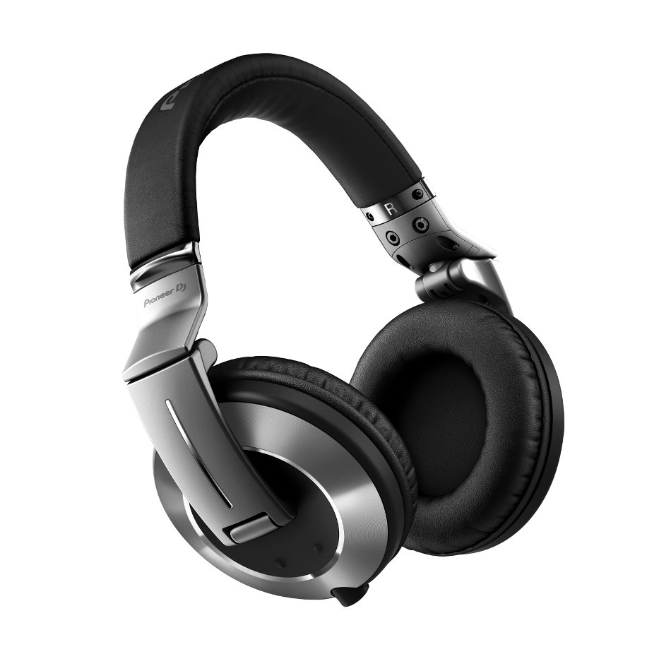Professional DJ Reference Headphones in Silver with Detachable Cable and Rotating Ear Cups