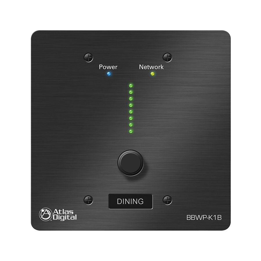 BlueBridge Series Wall Controller in Black with Single Value Change Adjustment