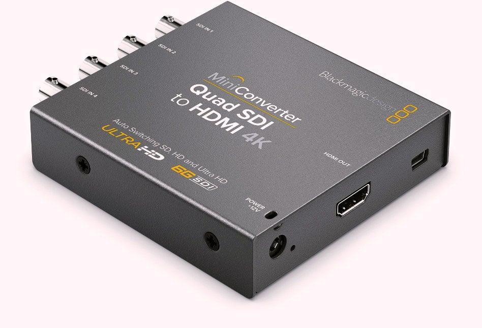 Quad SDI to HDMI 4K 2 Mini Converter