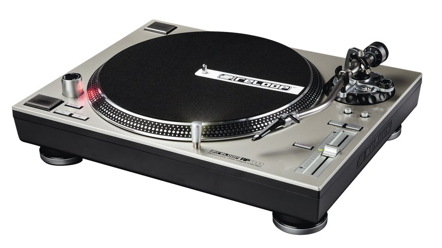 Direct Drive Turntable in Silver with S-Shaped Tonearm