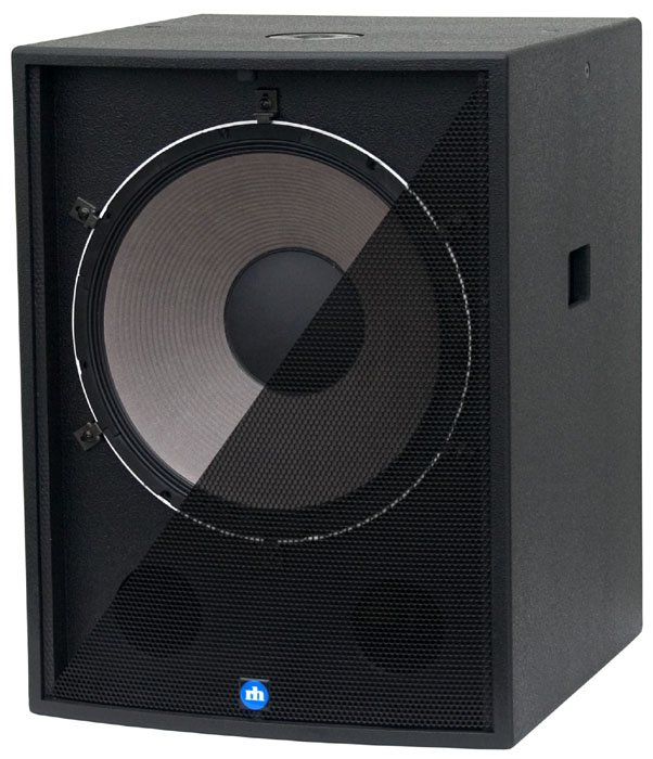 "18"" 500W Powered Subwoofer in White"