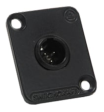 3-pin Male Mini XLR Panel Mount Connector