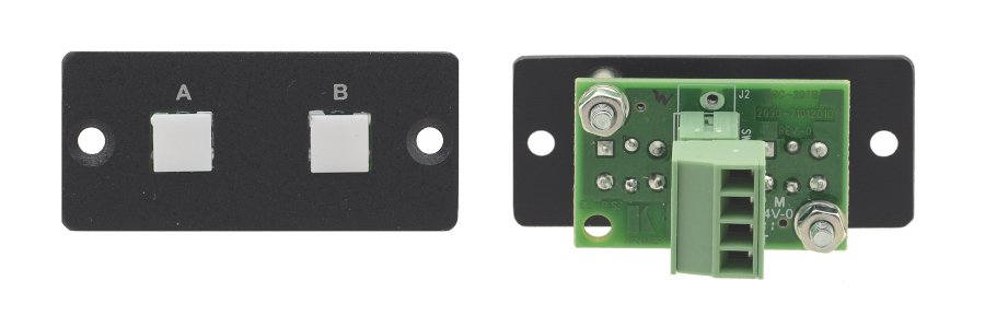 Wall Plate Insert with 2-Button Contact Closure Switch