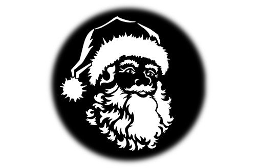 "Steel Gobo - ""Santa's Face"" Design"