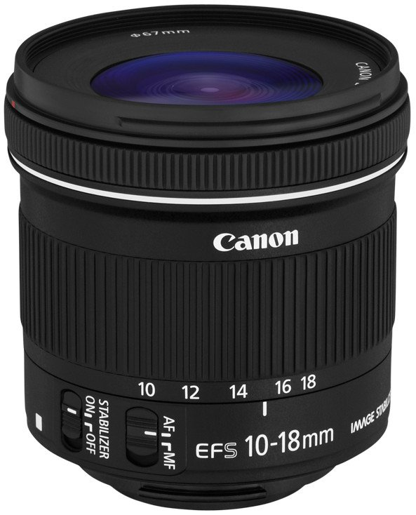 Canon 9519B002 EF-S 10-18mm f/4.5-5.6 IS STM Ultra-Wide Zoom Lens 9519B002