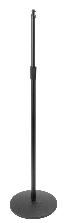 "Heavy-Duty Microphone Stand with 12"" Round Base"