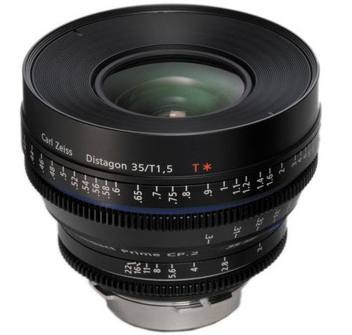 PL Mount Compact Prime CP.2 35mm/T1.5 Super Speed Cine Lens with T* Coating