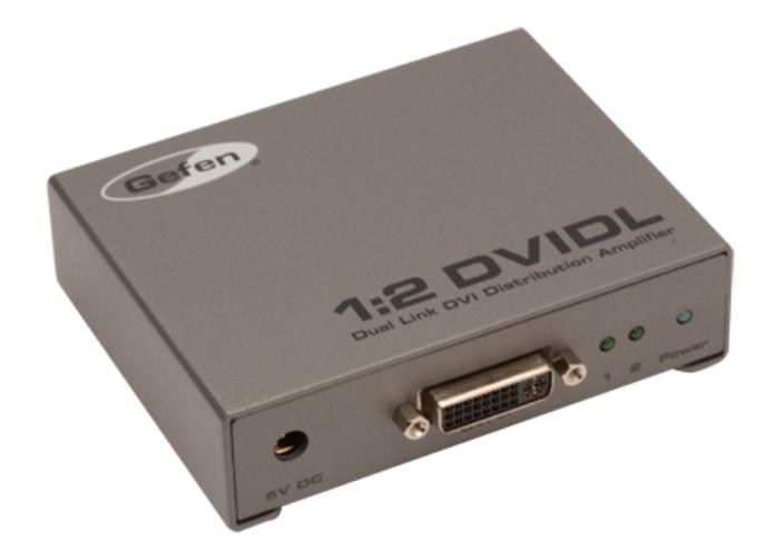 1:2 Dual Link DVI Distribution Amplifier