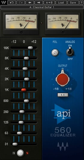 Waves API 560 Classic Graphic Equalizer Plug-in (Download) | Full Compass