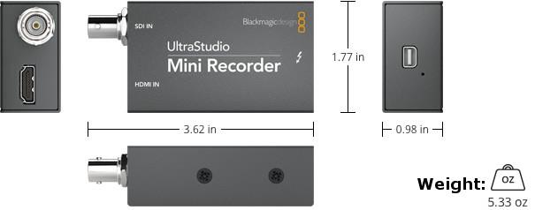 Pocket-Sized Thunderbolt-Powered SDI and HDMI Recording