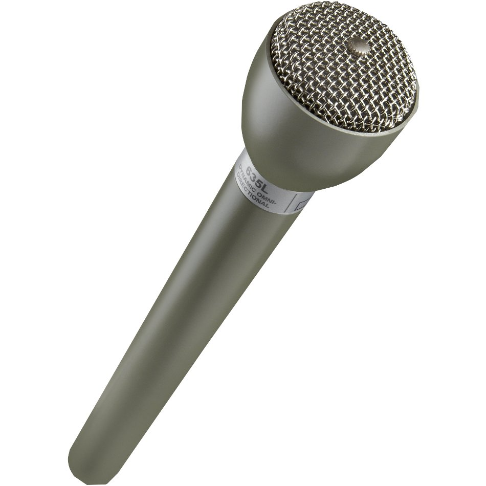 Dynamic Handheld Microphone with Extended Handle, Beige Finish