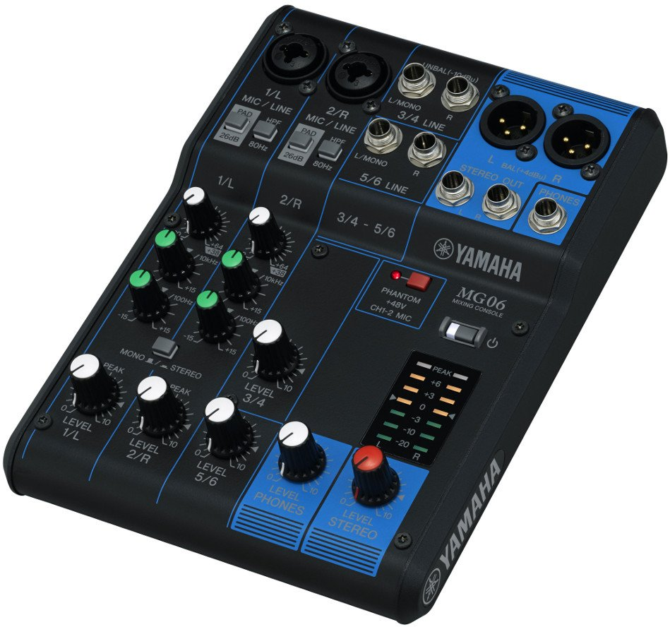 6 Channel Analog Mixer