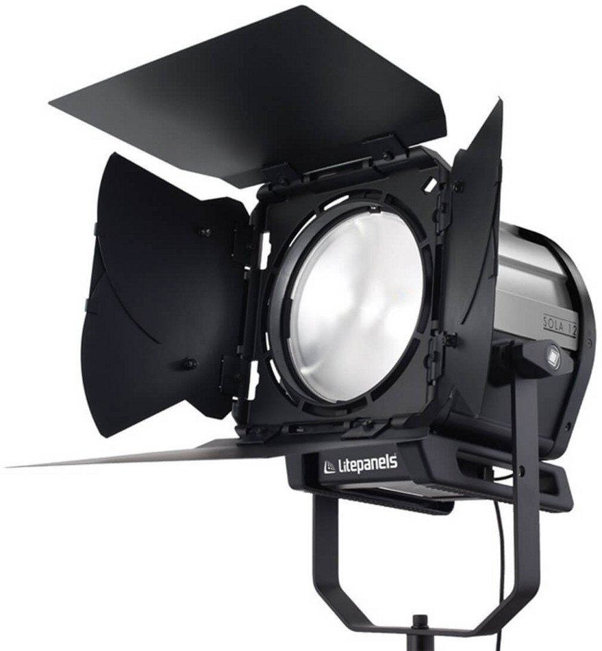 "High Intensity LED Fresnel Fixture with 12"" Lens"