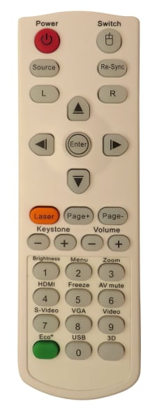 Optoma White Remote Control