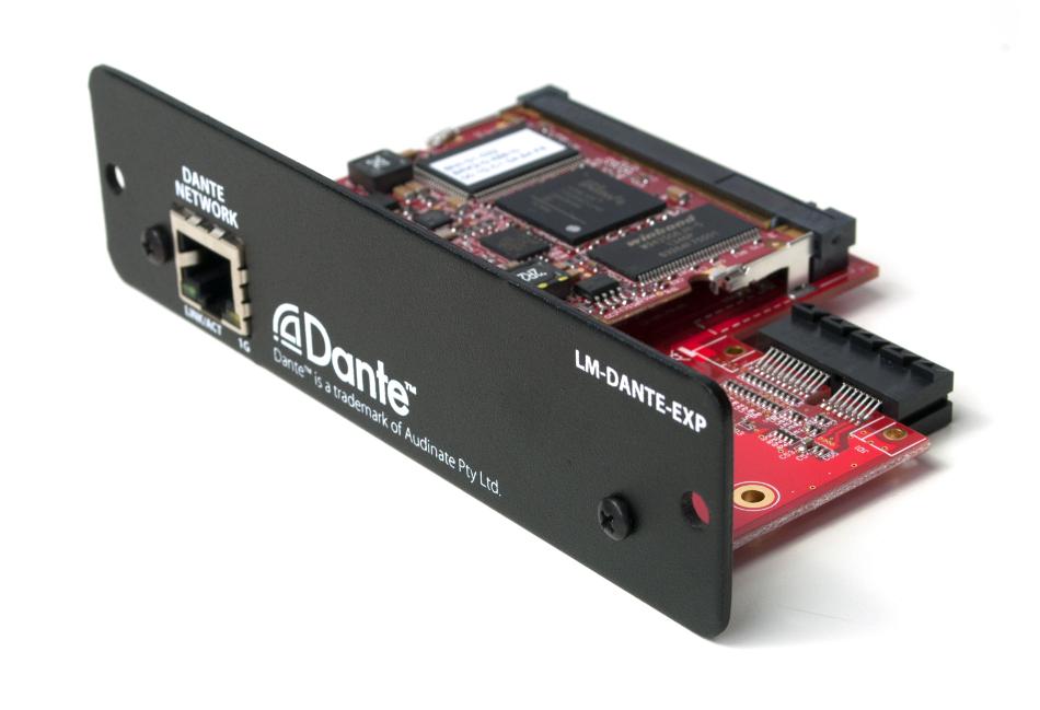 Dante Expansion Card for MIX-16 Central Mixer Unit
