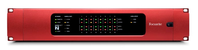 16x16 RedNet Dante Digital Audio Network Package